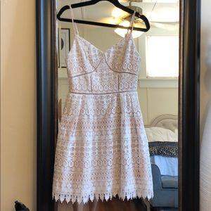 Gianni Bibi lace white dress